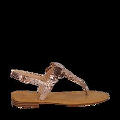 Sandali gioiello rosa in laminato, Primadonna, 134985111LMROSA036, 001a