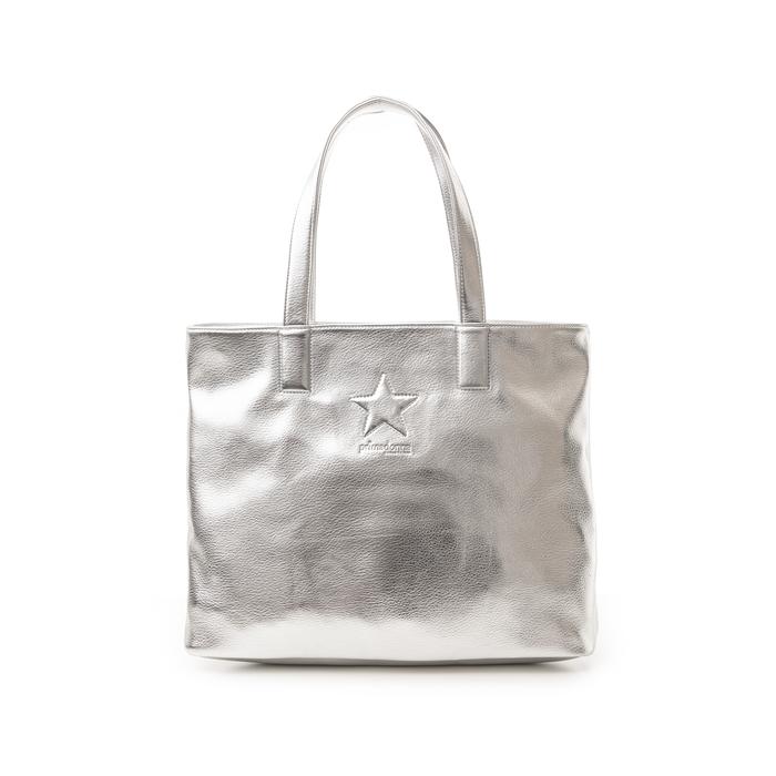Maxi bag argento in laminato , Primadonna, 133764104LMARGEUNI
