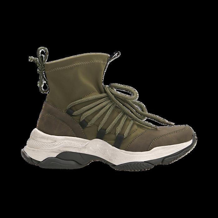 Sneakers verdi dad shoes a calza in lycra, Primadonna, 124108060LYVERD036