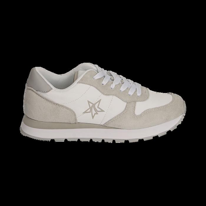 Sneakers en microfibra color blanco, Zapatos, 150620011MFBIAN036