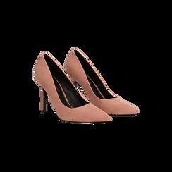 Décolleté rosa nude con punta affusolata, tacco stiletto 7,5 cm, Scarpe, 122182083MFNUDE, 002 preview