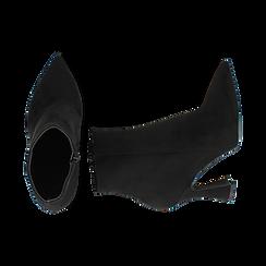 Ankle boots neri in microfibra, tacco 10 cm, Primadonna, 16G890701MFNERO036, 003 preview