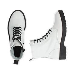 Botas Militares de piel blanco, Primadonna, 17B810831PEBIAN035, 003 preview