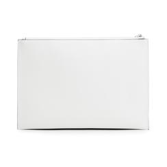 Pochette rettangolare bianca in eco-pelle, Borse, 133732356EPBIANUNI, 003 preview