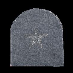 Berretto invernale grigio in tessuto, Saldi Abbigliamento, 12B490743TSGRIGUNI, 001a