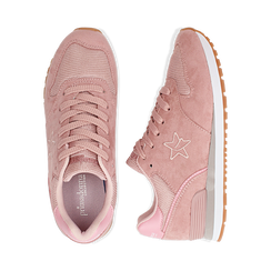 Sneakers rosa in microfibra , Scarpe, 132619078MFROSA036, 003 preview