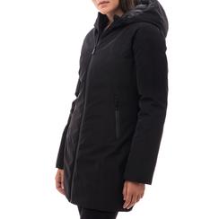 Piumino con cappuccio nero in nylon, Abbigliamento, 148500572NYNERO3XL, 001a