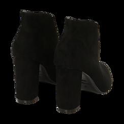 Ankle boots neri in microfibra, tacco 10,50 cm , Primadonna, 162183310MFNERO036, 004 preview