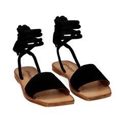 Sandali neri in camoscio , Primadonna, 17A131486CMNERO035, 002 preview