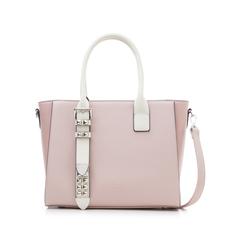 Borsa grande rosa in eco-pelle con borchie,