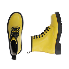 Anfibi gialli in eco-pelle, Stivaletti, 142801501EPGIAL035, 003 preview