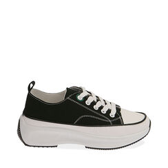 Sneakers chunky nere in canvas, Primadonna, 17K910193CANERO035, 001a
