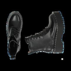 Bottines noir, platform 5,5 cm, Primadonna, 160622521EPNERO035, 003 preview