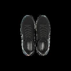 Sneakers nere con maxi platform a righe, Scarpe, 122800321MFNERO, 004 preview