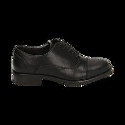 Stringate nere, tacco 4 cm, Primadonna, 160621674EPNERO037, 001 preview