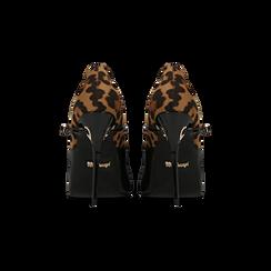 Décolleté nero-leopard con cinturino e occhiello, tacco 11 cm, Primadonna, 122162092VENELE, 003 preview