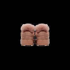 Sneakers nude con pon pon in eco-fur, Scarpe, 121081755MFNUDE, 003 preview