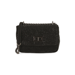 Borsa gioiello nera in microfibra, GIFT IDEAS, 165122995MPNEROUNI, 001 preview