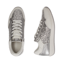 Sneakers en purpurina color plateado, Zapatos, 152669937GLARGE037, 003 preview