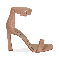 Sandali nude in vernice, tacco 10,50 cm , Chaussures, 151755083VENUDE035, 001a