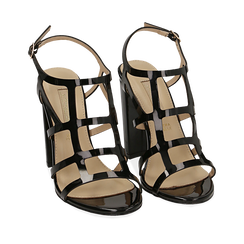 WOMEN SHOES SANDAL EP-PATENT NERO, Chaussures, 152123413VENERO036, 002a
