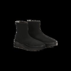 Sneakers nere in lycra a calza con suola in gomma, Scarpe, 121740405LYNERO, 002 preview