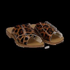 Mules flat leopard in vernice, Saldi Estivi, 136767002VELEMA035, 002 preview