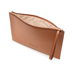 Pochette rettangolare cuoio in eco-pelle, Borse, 133732356EPCUOIUNI, 004 preview