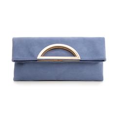 Pochette estensibile azzurra in microfibra , Borse, 135700150MFAZZUUNI, 001 preview