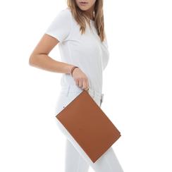 Pochette rettangolare cuoio in eco-pelle, Borse, 133732356EPCUOIUNI, 002 preview