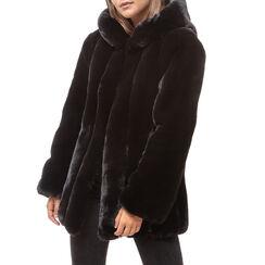 Pelliccia nera in eco fur, Primadonna, 16B420510FUNEROM, 001a