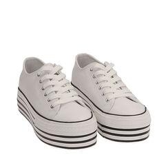 Sneakers blancas de lona, Primadonna, 172642102CABIAN036, 002a