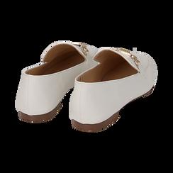 Mocasines eco-piel blanco, Zapatos, 154939181EPBIAN036, 004 preview