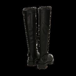 Stivali overknee neri con lavorazione bottalata, Primadonna, 163003615ELNERO036, 003 preview