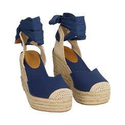 Espardeñas azules en lona@ plataforma 9 cm , Primadonna, 174824291CABLUE036, 002 preview