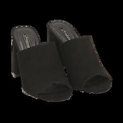 CALZATURA CIABATTE MICROFIBRA NERO, Chaussures, 154998161MFNERO036, 002 preview