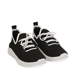 Sneakers en tejido en color negro, Zapatos, 159715007TSNERO036, 002a