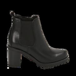 Chelsea boots neri, tacco 5 cm , Primadonna, 160637851EPNERO035, 001a