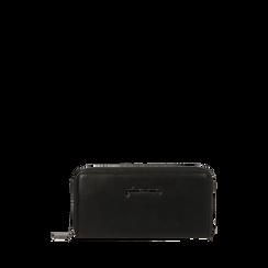 Portafogli nero , IDEE REGALO, 165122519EPNEROUNI, 001a