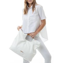 Maxi-bag bianca in eco-pelle, con sacca interna, Borse, 132382424EPBIANUNI, 002a
