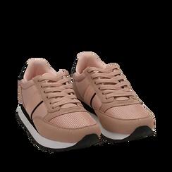 Sneakers nude in tessuto tecnico, Primadonna, 162619079TSNUDE038, 002a
