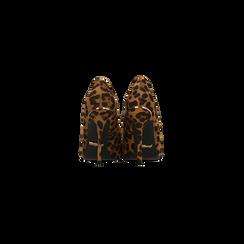 Décolleté leopard con punta affusolata, tacco stiletto 11 cm, Scarpe, 122146861MFLEOP040, 003 preview