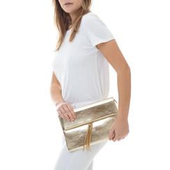 Bustina oro in eco-pelle, effetto metallizzato, Borse, 113308136LMOROGUNI, 002a