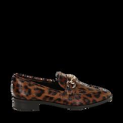 Mocasines con estampado de leopardo, Primadonna, 164964141EPLEMA037, 001a