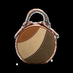 Mini-bag tonda multicolore in ecopelle, Borse, 122404146EPCUOIUNI, 001 preview
