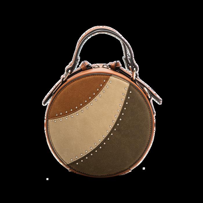Mini-bag tonda multicolore in ecopelle, Borse, 122404146EPCUOIUNI