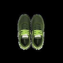 Sneakers verdi color block, Scarpe, 122618834MFVERD, 004 preview