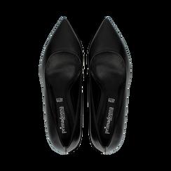 Décolleté nere Kitten heels in vero camoscio, tacco 3 cm, Primadonna, 12D617210VINERO, 004 preview