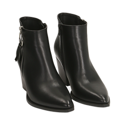 Ankle boots a punta neri, tacco 7,50 cm , Primadonna, 160598319EPNERO035, 002 preview