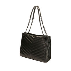 Bolso bandolera acolchado negro, Primadonna, 18D202118EPNEROUNI, 002a